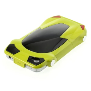 For iPhone 4 4S Hard Skin Case Sports Car Shape - Yellowgreen
