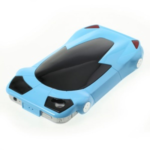 For iPhone 4 4S Hard Case Accessory Sports Car Shape - Blue