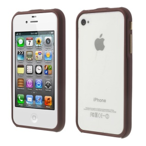 2 in 1 Magnetic Auto-absorbed for iPhone 4 4S Backless Bumper Shell - Wine Red
