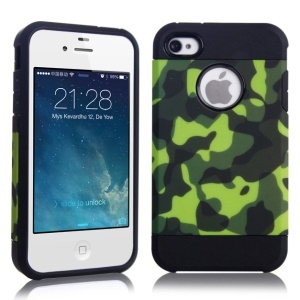 Camouflage Design PC + TPU Hybrid Shell Case for iPhone 4 4S