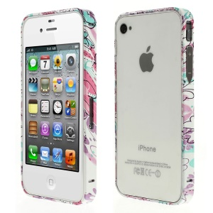 Aluminum Alloy Bumper for iPhone 4s 4 - Elegant Flower