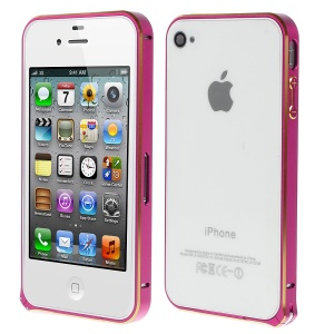 LOVE MEI Two-tone Backless Metal Bumper Case for iPhone 4s 4 - Rose