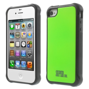 TPU + PC Hybrid Protective Case for iPhone 4s 4 - Green