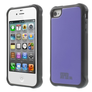 TPU + PC Hybrid Protective Shell for iPhone 4s 4 - Purple