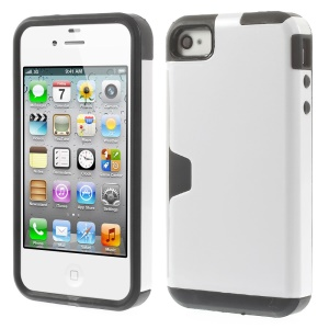 Detachable 2 in 1 PC + TPU Hybrid Protective Shell for iPhone 4s 4 - Silver