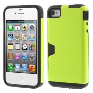 Detachable 2 in 1 PC + TPU Combo Back Shell for iPhone 4s 4 - Green