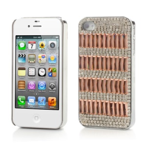 Sparkling Crystal Stone Rhinestone Case for iPhone 4 4S  - Orange