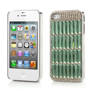 Sparkling Crystal Stone Diamond Case for iPhone 4 4S  - Green