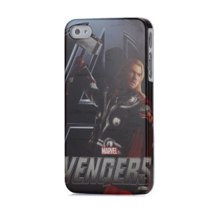 Hero The God of Thunder Pattern Durable Glossy Plastic Shield Case for iPhone 4 4S