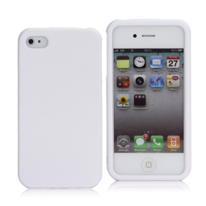 Slim Rubberized Matte Snap-on Bumper Hard Plastic Case for iPhone 4 4S - White