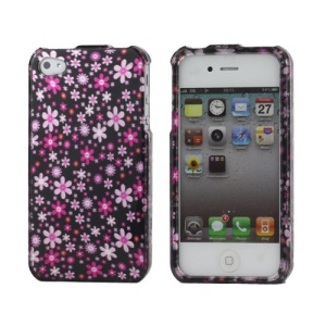 Small Flowers Snap-on Protective Plastic Case for iPhone 4 4S