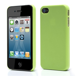 Candy Color Textured Plastic Case Cover for iPhone 4 4S - Green