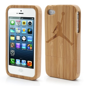 Detachable Carved Basketball Dunking Protective Bamboo Case for iPhone 4S 4