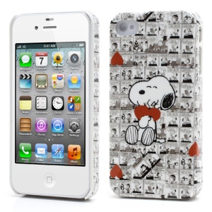 Snoopy and Red Heart Hard Cover for iPhone 4 4S