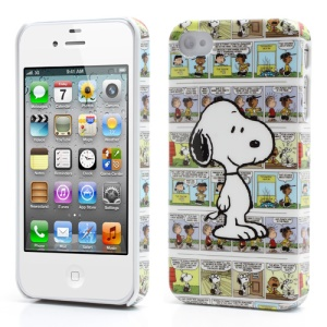 Snoopy and Its Cartoon Background Hard Cover for iPhone 4 4S