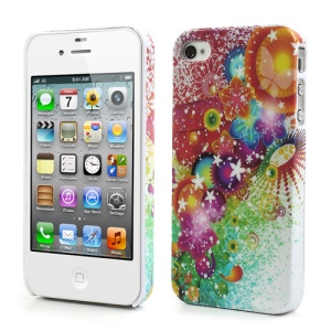 Pretty Redbud Flower Protective Hard Case for iPhone 4 4S
