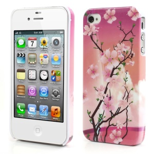 Beautiful Plum Blossom Plastic Case for iPhone 4 4S