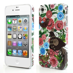 Mandarin Ducks & Flower for iPhone 4 4S Glossy Plastic Case