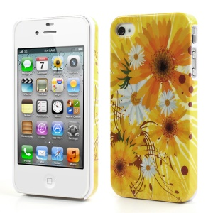 Blooming Sunflower for iPhone 4 4S Plastic Back Case