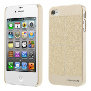 Four Square Parts Champagne Gold Slim Plastic Case for iPhone 4S 4