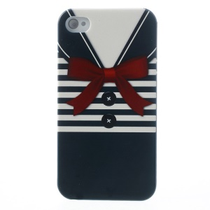 For iPhone 4s 4 Blue Stripe Shirt Hard PC Shell