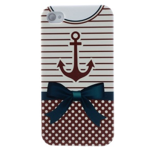 For iPhone 4s 4 Stripe & Dots Shirt Hard PC Case