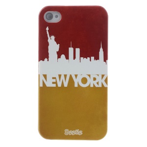 For iPhone 4s 4 New York Impression Plastic Case