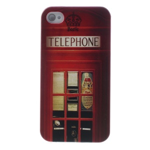 Slim Telephone Booth Hard Case for iPhone 4s 4