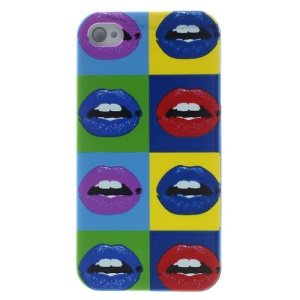 Colorful Lip Hard Protective Case for iPhone 4s 4