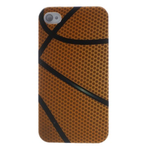 Basketball Pattern Plastic Back Case for iPhone 4s 4