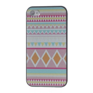 For iPhone 4s 4 Slim Plastic Cover Stylish Tribal Pattern