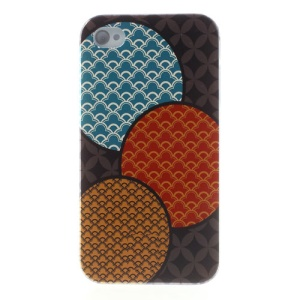 For iPhone 4s 4 Durable Plastic Back Case Cloud Colorful Pattern