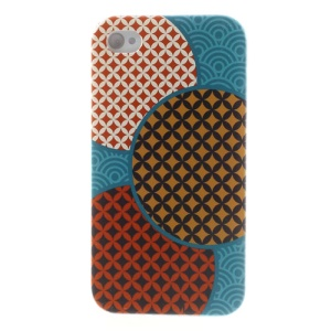 For iPhone 4s 4 Durable Plastic Back Case Colorful Geometric Pattern