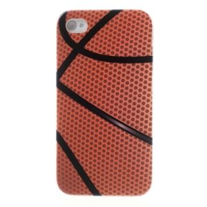 For iPhone 4s 4 Basketball Pattern Durable Plastic Case