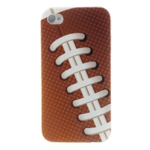 For iPhone 4s 4 Shoelace Design Durable Hard Cover