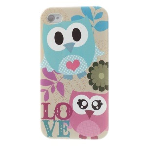 For iPhone 4s 4 Lovely Owls Shielded Hard Shell