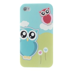 For iPhone 4s 4 Adorable Owls Protective Plastic Back Case
