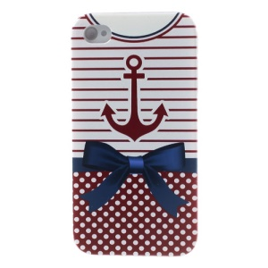 For iPhone 4s 4 Anchor Nautical Clothing Durable Hard Case