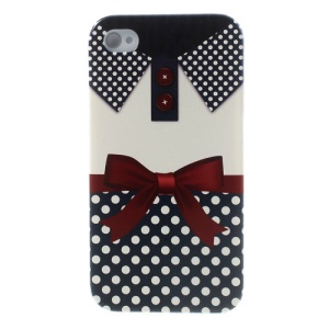 For iPhone 4s 4 Pretty Dots & Bowknot Clothes Hard Shell