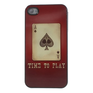 Poker Playing Card Glossy Aluminum Metal Coated Hard Cover for iPhone 4s 4