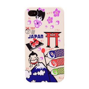 UMKU for iPhone 4s 4 Japan Cartoon Tourism Sights Protective Hard Case