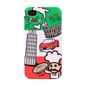 UMKU for iPhone 4s 4 Protective Hard PC Shell Italy The Leaning Tower of Pisa Pattern
