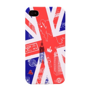 UMKU for iPhone 4s 4 Protective Hard Case Union Jack & Britain Attractions Pattern