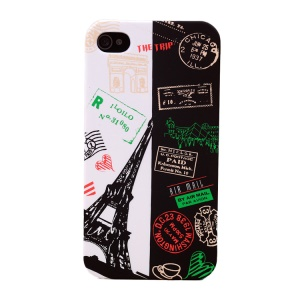 UMKU Eiffel Tower & Air Mail Postmarks Hard Cover for iPhone 4s 4