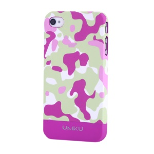 Rose UMKU Camouflage Design Slim Hard Case for iPhone 4s 4