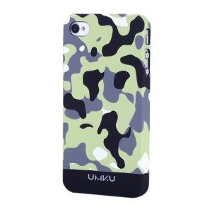 Black UMKU Camouflage Design Slim Hard Cover for iPhone 4s 4