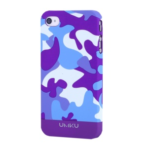 Dark Purple UMKU Camouflage Design Slim Hard Cover for iPhone 4s 4