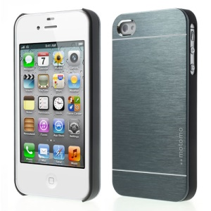Slate Gray MOTOMO for iPhone 4 4S Brushed Aluminum Metal Hard Phone Cover