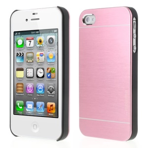 Baby Pink for iPhone 4 4S MOTOMO Brushed Aluminum Metal PC Hard Case