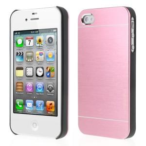 Baby Pink for iPhone 4 4S MOTOMO Brushed Aluminum Metal PC Hard Case
